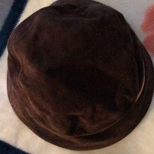 d05d39c4739 Coach Accessories - Coach brown suede bucket hat